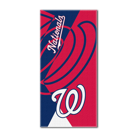 Washington Nationals MLB ?Puzzle? Over-sized Beach Towel (34in x 72in)
