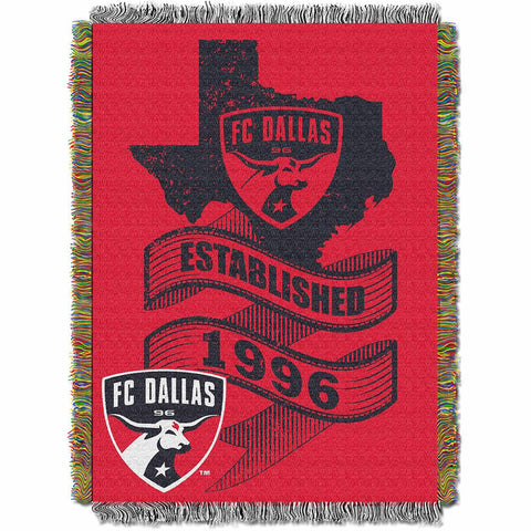 FC Dallas MLS Woven Tapestry Throw Blanket (48x60)