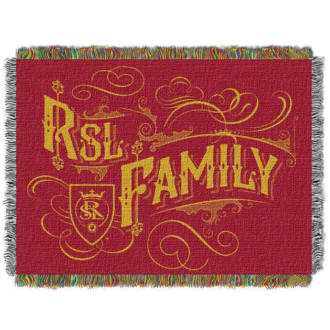 Real Salt Lake MLS Woven Tapestry Throw Blanket (48x60)