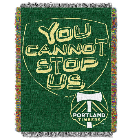 Portland Timbers MLS Woven Tapestry Throw Blanket (48x60)