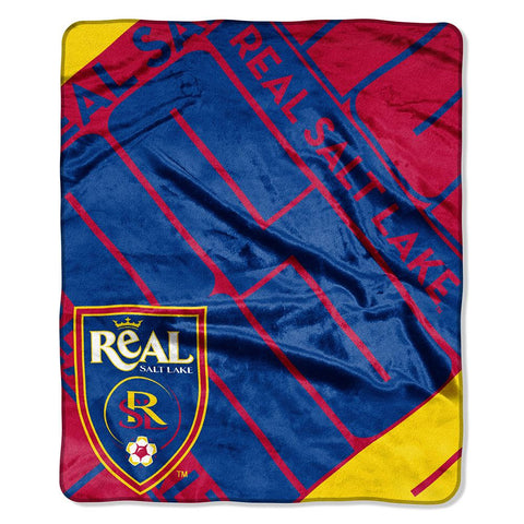 Real Salt Lake MLS Royal Plush Raschel Blanket (Scramble Series) (50in x 60in)