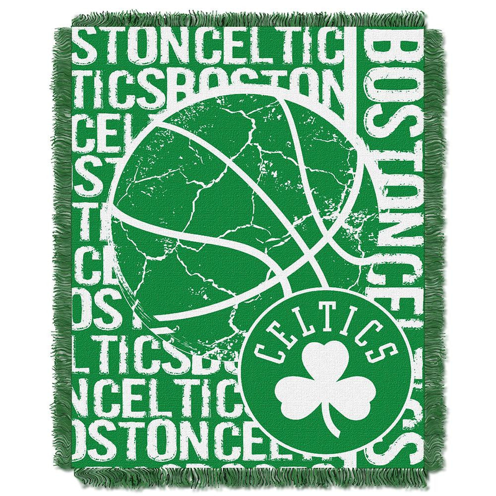 Boston Celtics NBA Triple Woven Jacquard Throw (Double Play Series) (48x60) - 2