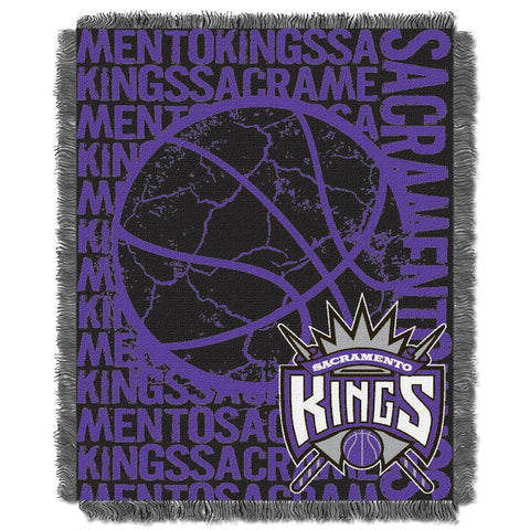 Sacramento Kings NBA Triple Woven Jacquard Throw (Double Play Series) (48x60)