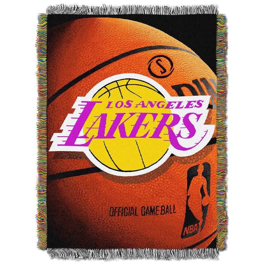 Los Angeles Lakers NBA Woven Tapestry Throw Blanket (48x60) - 2