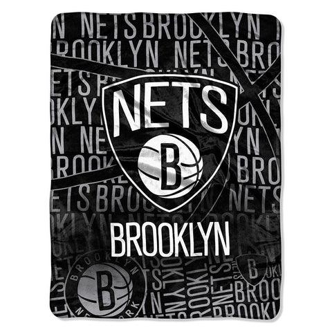 Brooklyn Nets NBA Micro Raschel Blanket (Redux Series) (46in x 60in)