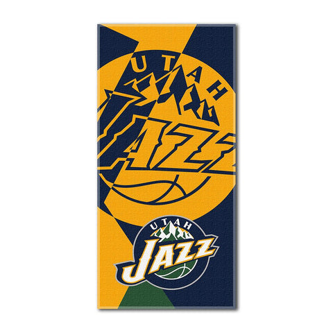 Utah Jazz NBA ?Puzzle? Over-sized Beach Towel (34in x 72in)