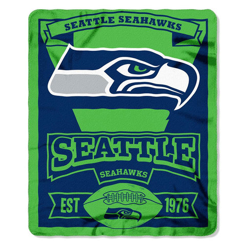 Seattle Seahawks NFL Light Weight Fleece Blanket (Marque Series) (50inx60in)