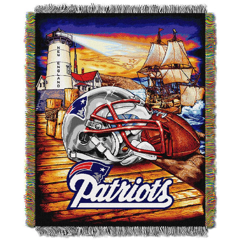 New England Patriots NFL Woven Tapestry Throw (Home Field Advantage) (48x60)