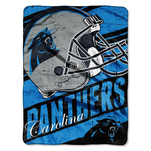 Carolina Panthers NFL Micro Raschel Blanket (Deep Slant Series) (46in x 60in)