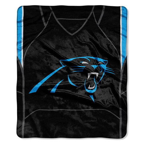 Carolina Panthers NFL Royal Plush Raschel Blanket (Jersey Raschel) (50in x 60in)
