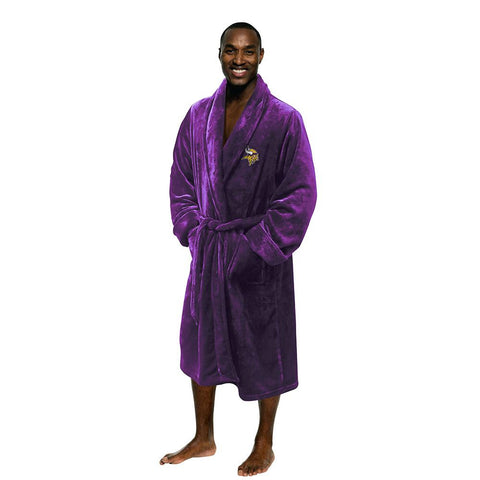 Minnesota Vikings NFL Men's Silk Touch Bath Robe (L-XL)