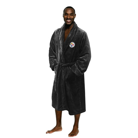 Pittsburgh Steelers NFL Men's Silk Touch Bath Robe (L-XL)