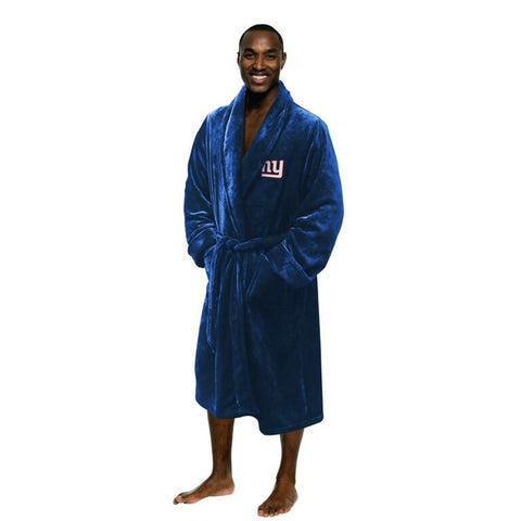 New York Giants NFL Men's Silk Touch Bath Robe (L-XL)