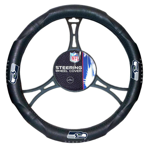 Seattle Seahawks NFL Steering Wheel Cover (14.5 to 15.5)