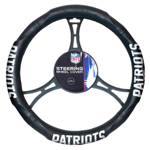 New England Patriots NFL Steering Wheel Cover (14.5 to 15.5)