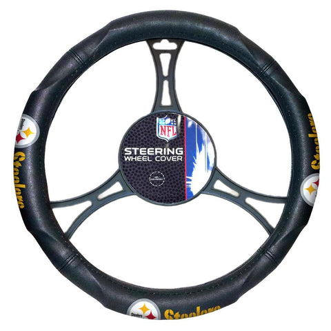 Pittsburgh Steelers NFL Steering Wheel Cover (14.5 to 15.5)