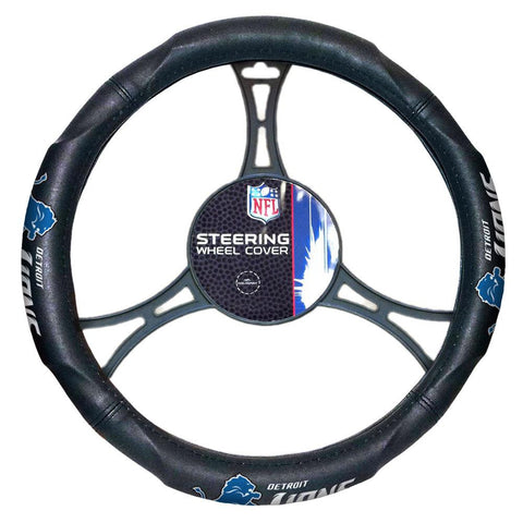 Detroit Lions NFL Steering Wheel Cover (14.5 to 15.5)