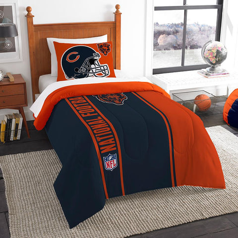 Chicago Bears NFL Twin Comforter Set (Soft & Cozy) (64 x 86)