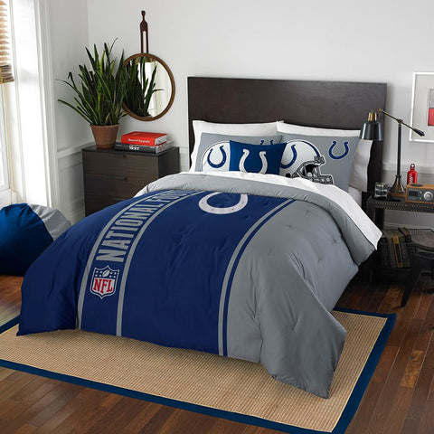 Indianapolis Colts NFL Full Comforter Set (Soft & Cozy) (76 x 86)
