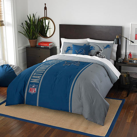 Detroit Lions NFL Full Comforter Set (Soft & Cozy) (76 x 86)