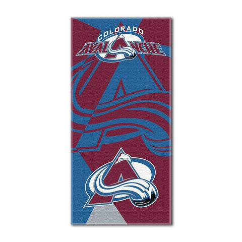 Colorado Avalanche NHL ?Puzzle? Over-sized Beach Towel (34in x 72in)