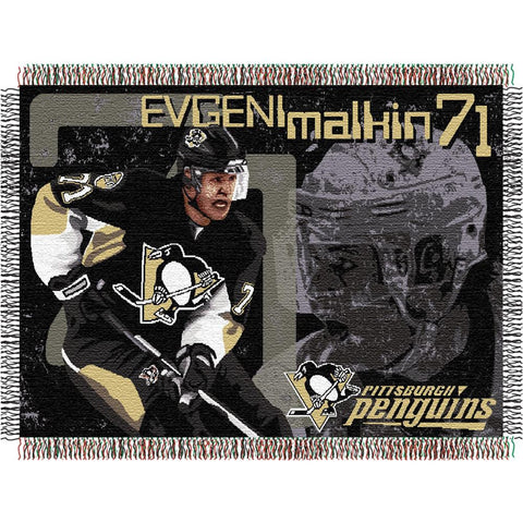 Evgeni Malkin #71Pittsburgh Penguins NHL Woven Tapestry Throw (48x60)