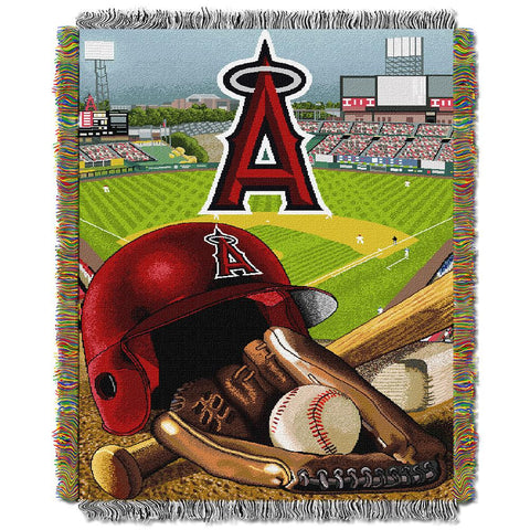 Anaheim Angels MLB Woven Tapestry Throw (Home Field Advantage) (48x60)