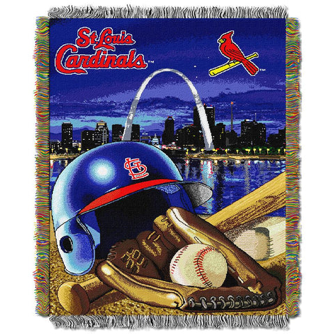 Saint Louis Cardinals MLB Woven Tapestry Throw (Home Field Advantage) (48x60)