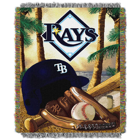 Tampa Bay Devil Rays MLB Woven Tapestry Throw (Home Field Advantage) (48x60)
