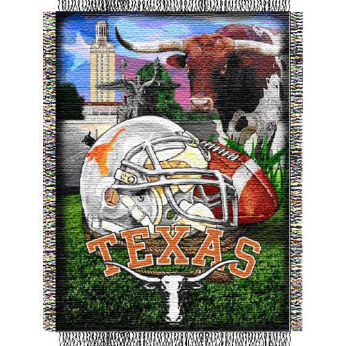 Texas Longhorns NCAA Woven Tapestry Throw (Home Field Advantage) (48x60) - 2
