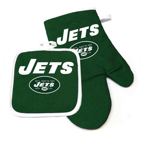 New York Jets NFL Oven Mitt and Pot Holder Set