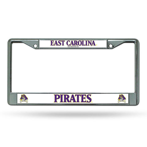 East Carolina Pirates NCAA Chrome License Plate Frame