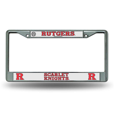 Rutgers Scarlet Knights NCAA Chrome License Plate Frame