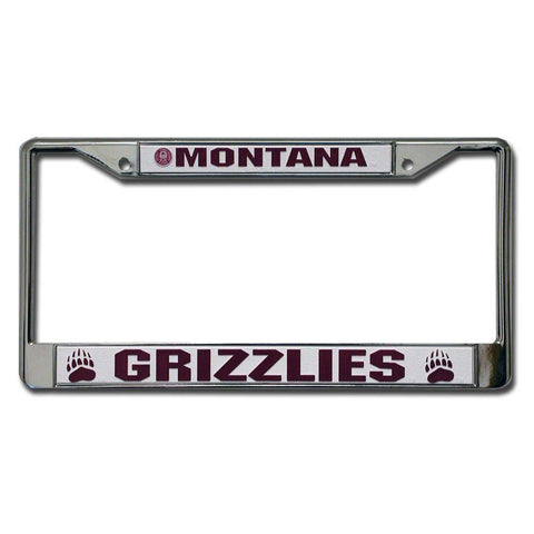 Montana Grizzlies NCAA Chrome License Plate Frame