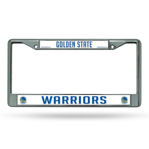 Golden State Warriors NBA Chrome License Plate Frame