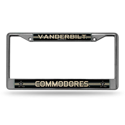 Vanderbilt Commodores NCAA Bling Glitter Chrome License Plate Frame