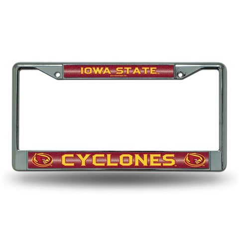 Iowa State Cyclones NCAA Bling Glitter Chrome License Plate Frame