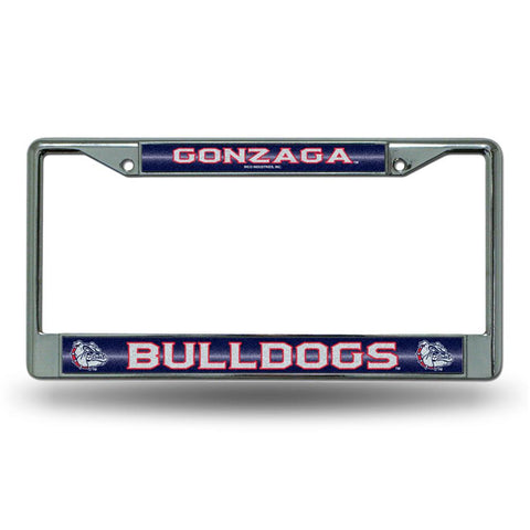 Gonzaga Bulldogs NCAA Bling Glitter Chrome License Plate Frame