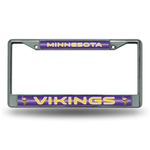 Minnesota Vikings NFL Bling Glitter Chrome License Plate Frame