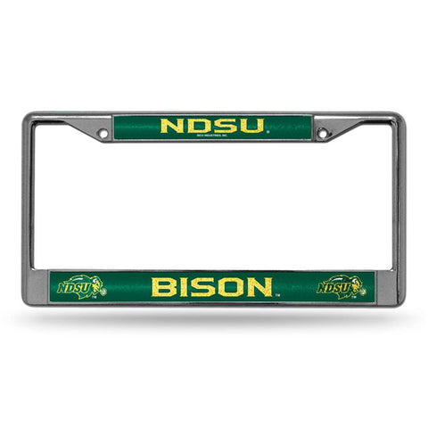 North Dakota State Bison NCAA Bling Glitter Chrome License Plate Frame