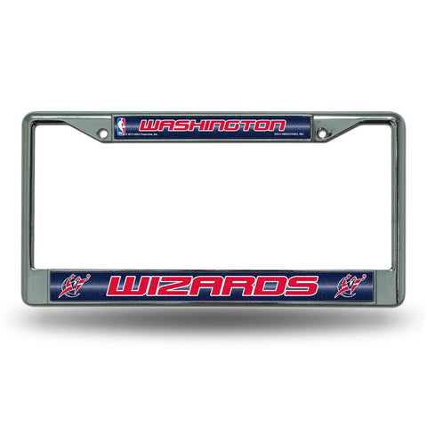 Washington Wizards NBA Bling Glitter Chrome License Plate Frame