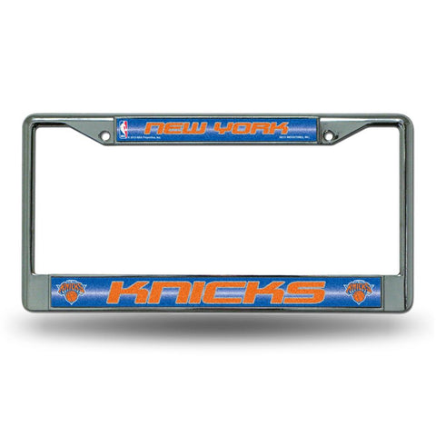 New York Knicks NBA Bling Glitter Chrome License Plate Frame
