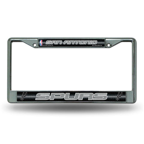 San Antonio Spurs NBA Bling Glitter Chrome License Plate Frame