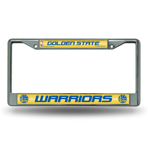 Golden State Warriors NBA Bling Glitter Chrome License Plate Frame