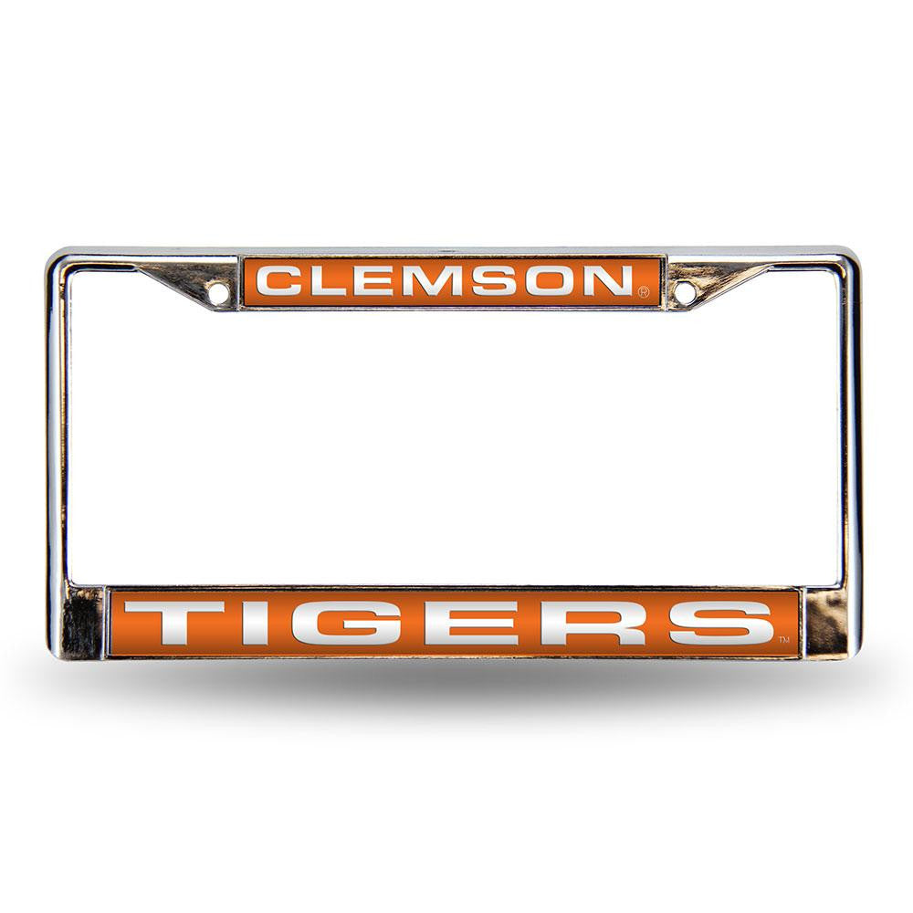 Clemson Tigers NCAA Laser Chrome License Plate Frame