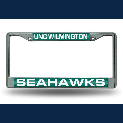 North Carolina Wilmington Seahawks NCAA Chrome Laser Cut License Plate Frame
