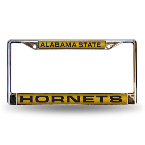 Alabama State Hornets NCAA Chrome Laser Cut License Plate Frame
