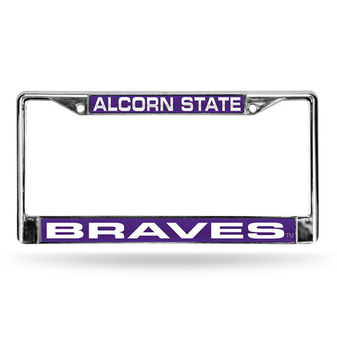 Alcorn State Braves NCAA Chrome Laser Cut License Plate Frame