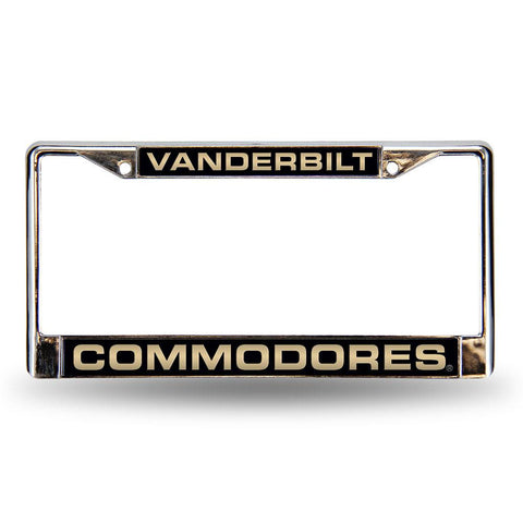 Vanderbilt Commodores NCAA Laser Chrome License Plate Frame