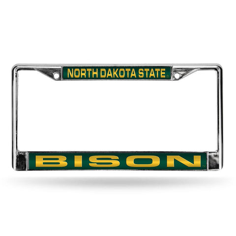 North Dakota State Bison NCAA Laser Chrome License Plate Frame